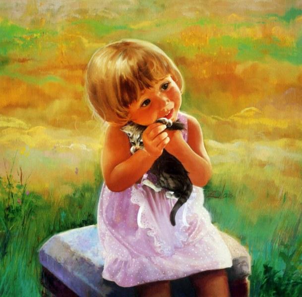 صور اطفال مرسومه من الخيال الواسع