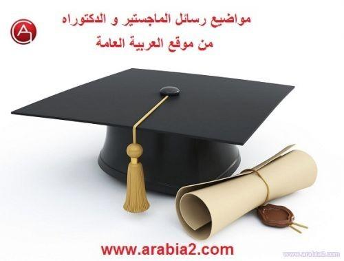 رسائل الماجستير والدكتوراة في قسم اللغة العربية