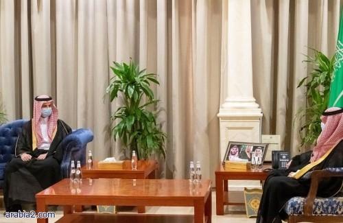 سمو الأمير فيصل بن نواف يستقبل رئيس جامعة الجوف المعين حديثاً