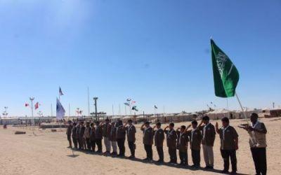 كشافة المملكة تبدأ مشاركتها في المخيم الكشفي الـ71 بالكويت