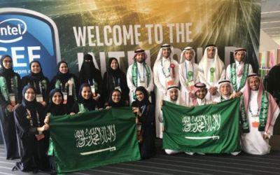 """الفريق السعودي يحصد """"12"""" جائزة في مسابقة إنتل آيسيف الدولية"""